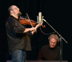 Mario accompanying fiddler Pascal Gemme